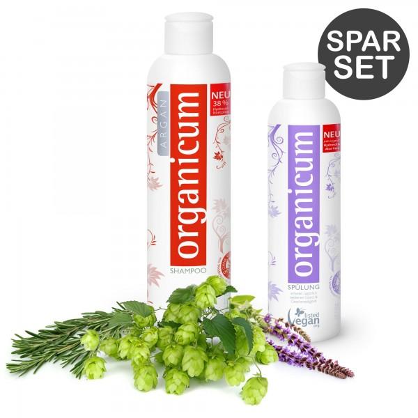Spar-Set: organicum Argan-Shampoo und Spülung