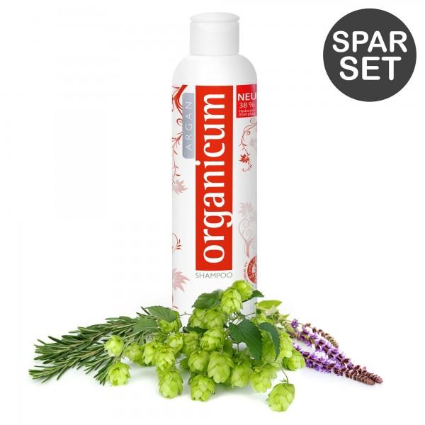 Multipack: 3x organicum Argan-Shampoo for coloured hair (each 350 ml)