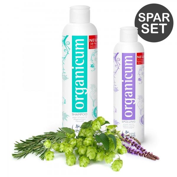 Spar-Set: organicum Shampoo und Spülung